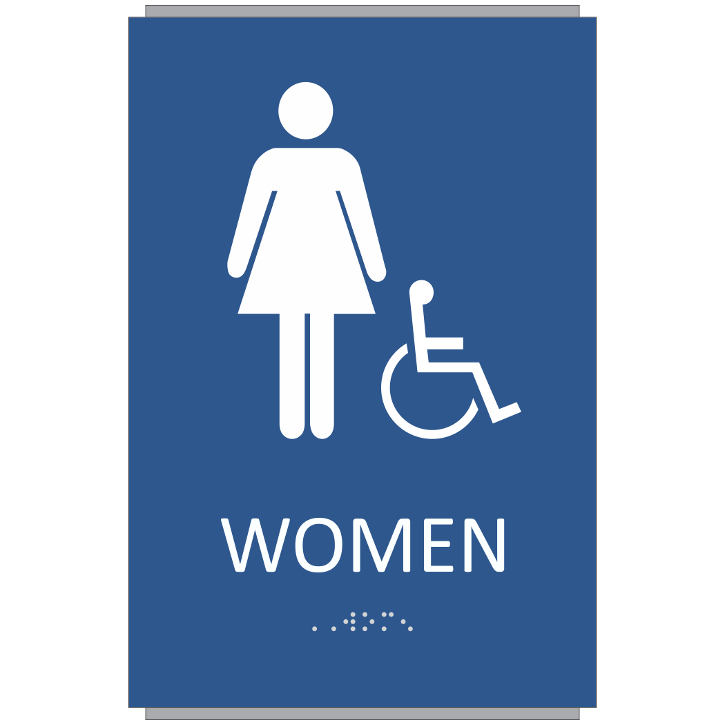 ADA Braille Women Restroom Sign